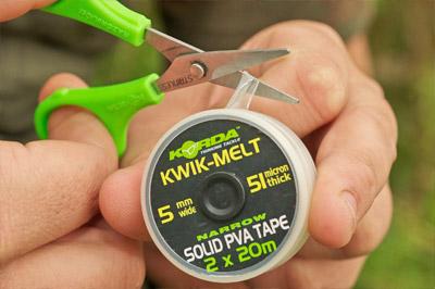 Korda kwik-melt solid pva tape double bobine pêche à la carpe tackle 40M 5MM